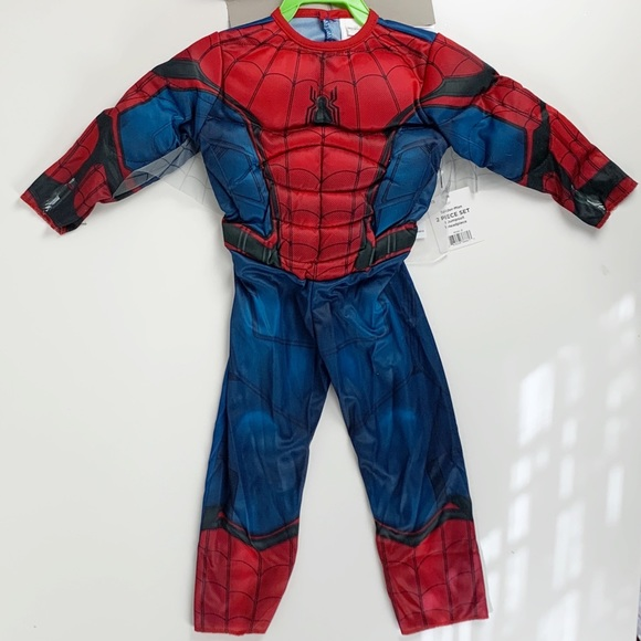 SPIDERMAN 2T TODDLER COSTUME WITH MASK-NWT!